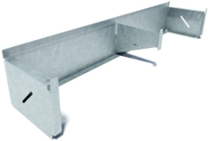 Flexi 200 x 175 x 1000 mm sokkelaffugter u/rist, S235JR/DIN1