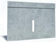 Flexi 200 x 175 mm endegavl til sokkelaffugter, S235JR/DIN14