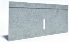 Flexi 300 x 175 mm endegavl til sokkelaffugter, S235JR/DIN14