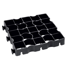 Byggros Ecoblock elastic E40, sort, 10 t, 12 stk. pr. 1,33 m