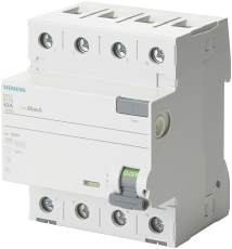 Fejlstrømsafbryder PFI 63A 4P 300mA, 10 kA, 5SV3646-6