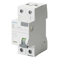 Fejlstrømsafbryder HPFI 25A, 2P, 30mA, Type A, 5SV3312-6
