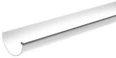 "10"" x 4000 mm Tagrende hvid Plastmo"