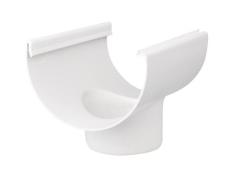 """12"""" x 110 mm Tudstykke hvid Plastmo"""