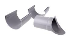"10"" x 75 mm Tudstykke justerbart grå Plastmo"