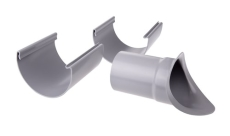 """12"""" x 75 mm Ttudstykke justerbart grå Plastmo"""