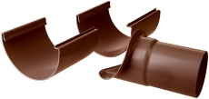 """12"""" x 90 mm Tudstykke justerbart brun Plastmo"""