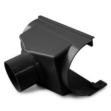 """11"""" x 75 mm x 45° Expansionstudstykke bagudvendt sort Plastm"""