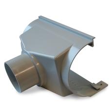 """10"""" x 75 mm x 75° Expansionstudstykke bagudvendt grå Plastmo"""