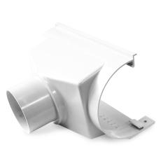 """12"""" x 110 mm x 75° Expansionstudstykke bagudvendt hvid Plast"""