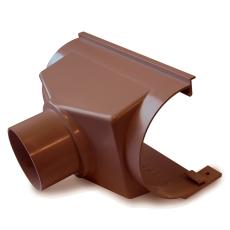 """12"""" x 110 mm x 75° Expansionstudstykke bagudvendt brun Plast"""
