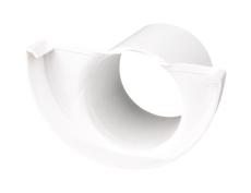 "11"" x 75 mm Endebund med tud hvid Plastmo"