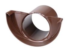 "11"" x 75 mm Endebund med tud brun Plastmo"