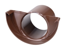 "12"" x 75 mm Endebund med tud brun Plastmo"
