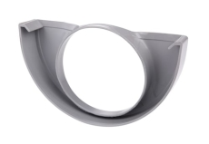 "10"" x 75 mm Endebund med hul grå Plastmo"