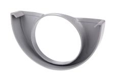 "12"" x 75 mm Endebund med hul grå Plastmo"