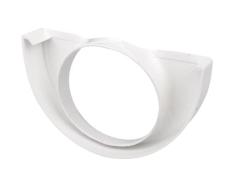 "10"" x 75 mm Endebund med hul hvid Plastmo"