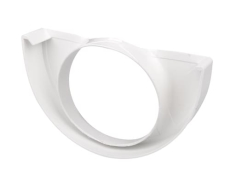 "12"" x 90 mm Endebund med hul hvid Plastmo"