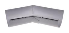 "10"" x 45° Gering indvendig grå Plastmo"