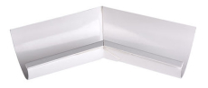 """11"""" x 45° Gering indvendig hvid Plastmo"""