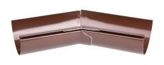 "12"" x 45° Gering indvendig brun Plastmo"