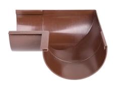 "12"" x 90° Gering indvendig brun Plastmo"