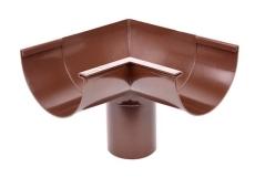 "11"" x 75 mm x 90° Gering indvendig brun Plastmo"