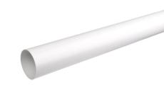 90 x 3000 mm Nedløbsrør hvid Plastmo