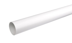 110 x 3000 mm Nedløbsrør hvid Plastmo