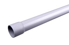 75 x 2000 mm Hærvæksrør PVC grå Plastmo