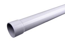 110 x 2000 mm Hærvæksrør PVC grå Plastmo