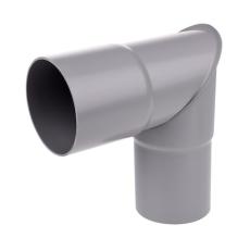 75 mm x 90° Knærør grå Plastmo
