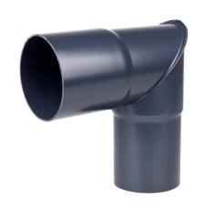 110 mm x 90° Knærør grafit Plastmo