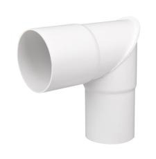 110 mm x 90° Knærør hvid Plastmo