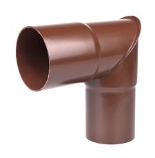 75 mm x 90° Knærør brun Plastmo
