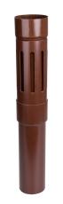 110 mm Altanafløb brun Plastmo