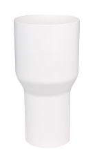 90 x 75 mm Overgang hvid Plastmo