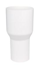110 x 75 mm Overgang hvid Plastmo