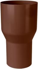 90 x 75 mm Overgang brun Plastmo