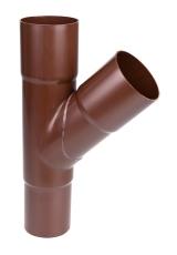 110 x 75 mm x 60° Grenrør brun Plastmo