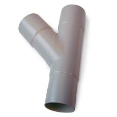 90 x 90 mm x 90° Grenrør grå Plastmo