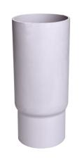 110 mm Hærværksnedførsel lige grå Plastmo