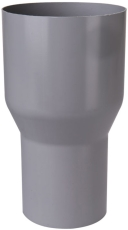 Overgang fra løvfang til 90 mm grå Plastmo