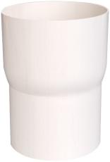 Overgang fra løvfang til 90 mm hvid Plastmo