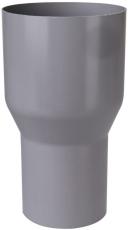 Overgang fra løvfang til 75 mm grå Plastmo