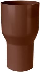 Overgang fra løvfang til 75 mm brun Plastmo
