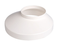 75 x 130 mm Brøndkrave hvid Plastmo