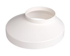 110 x 130 mm Brøndkrave hvid Plastmo