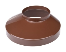 110 x 130 mm Brøndkrave brun Plastmo