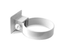 Plastrørholder 110 mm hvid